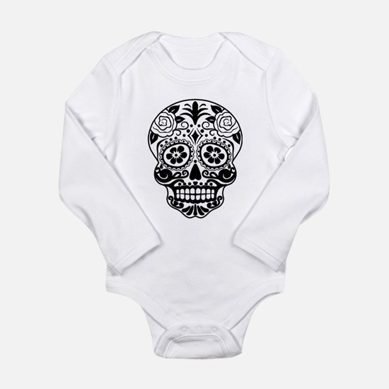 Sugar skull black and white Body Suit