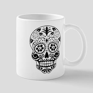 Sugar skull black and white Mugs