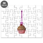 Cupcake purple Eiffel Tower Puzzle