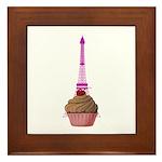 Cupcake purple Eiffel Tower Framed Tile