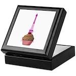 Cupcake purple Eiffel Tower Keepsake Box