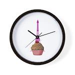 Cupcake purple Eiffel Tower Wall Clock
