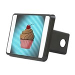 Pink Brown Cupcake on Teal Hitch Cover
