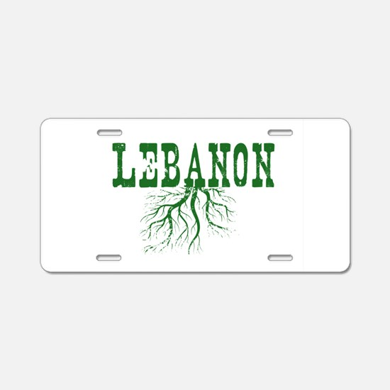 Lebanon Roots Aluminum License Plate