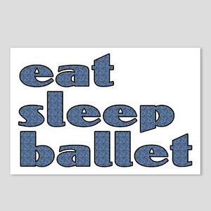eat sleep ballet - Postcards (Package of 8)