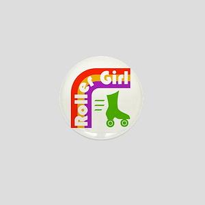 Roller Girl Mini Button