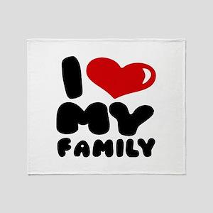 I love my Family Throw Blanket