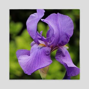 Purple Bearded Iris Queen Duvet