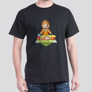A child eating at a fastfood restaura Dark T-Shirt