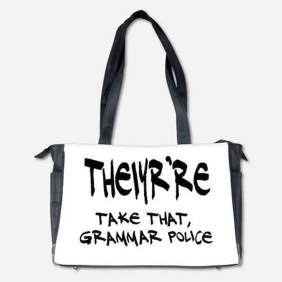 Grammar Police Diaper Bag