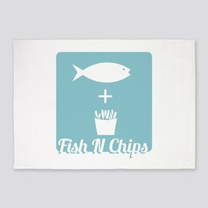 Fish N Chips 5'x7'Area Rug