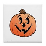 Halloween Art Pumpkin Tile Coaster