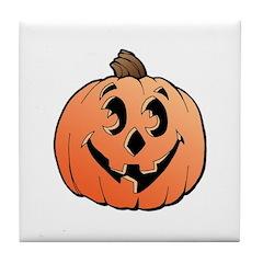 Halloween Art Pumpkin Tile Coaster
