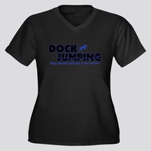 Cool Dock Jumping Women's Plus Size Dark T Shirt P