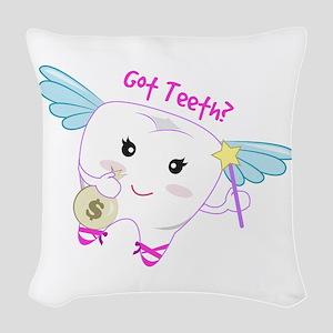 Got Teeth? Woven Throw Pillow