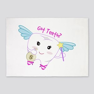 Got Teeth? 5'x7'Area Rug