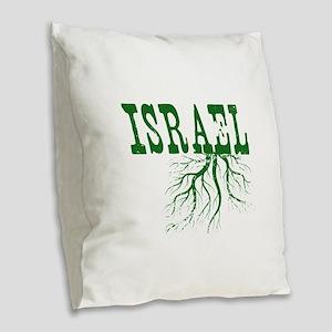 Israel Roots Burlap Throw Pillow