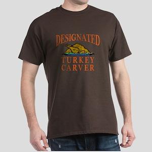 Designated Turkey Carver Thanksgiving Dark T-Shirt
