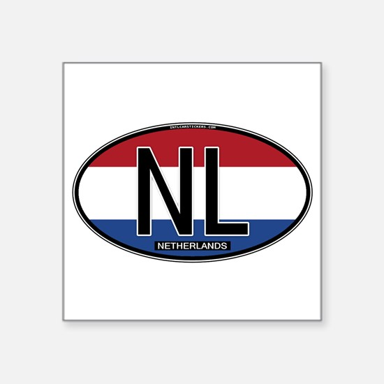 "Cute Netherlands Square Sticker 3"" x 3"""