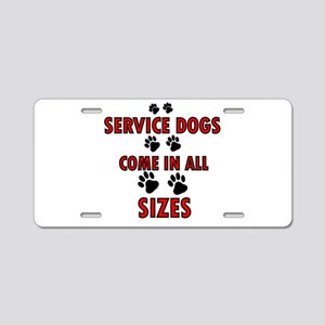 SERVICE DOGS Aluminum License Plate
