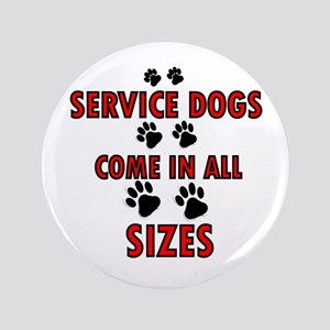 "SERVICE DOGS 3.5"" Button"
