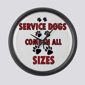 SERVICE DOGS Large Wall Clock
