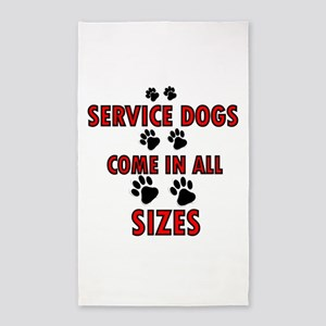 SERVICE DOGS 3'x5' Area Rug