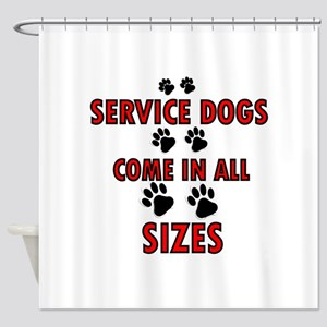 SERVICE DOGS Shower Curtain