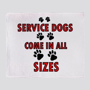 SERVICE DOGS Throw Blanket