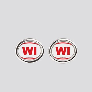 Wisconsin WI Euro Oval Oval Cufflinks