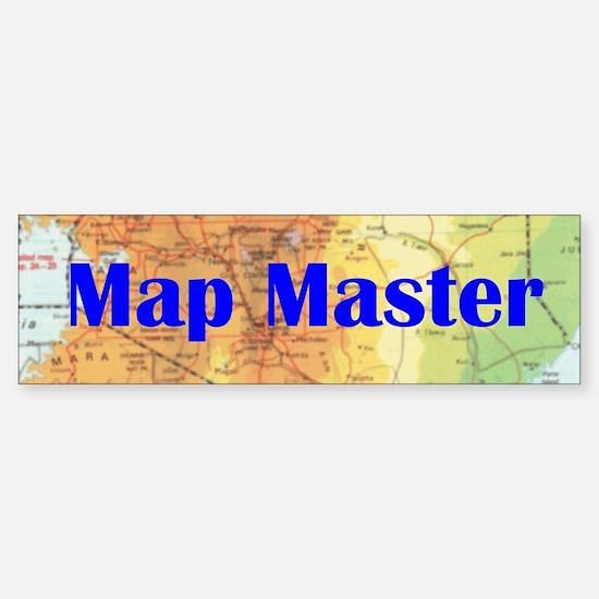 Map Master - bumper sticker