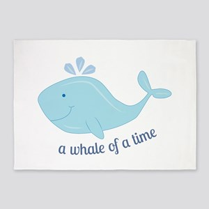 Whale Of Time 5'x7'Area Rug