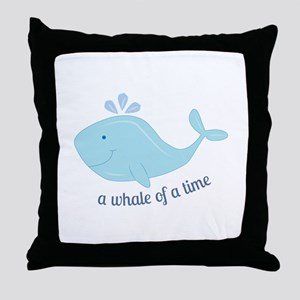 Whale Of Time Throw Pillow