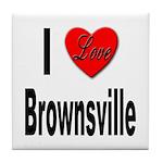 I Love Brownsville Tile Coaster