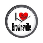I Love Brownsville Wall Clock