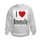 I Love Brownsville (Front) Kids Sweatshirt