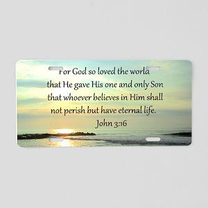 JOHN 3:16 Aluminum License Plate