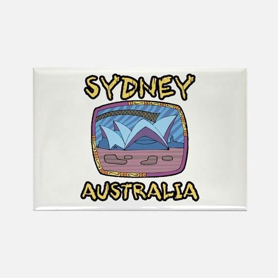 Sydney Australia Rectangle Magnet