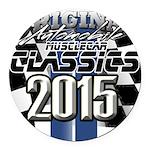 New 2015 Classic Round Car Magnet