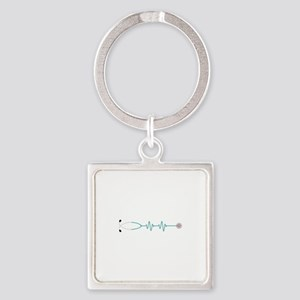 Stethescope Heart Rate Monitor Keychains