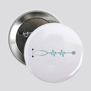 "Stethescope Heart Rate Monitor 2.25"" Button (10 pa"