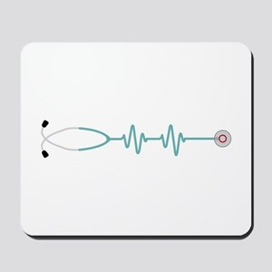 Stethescope Heart Rate Monitor Mousepad