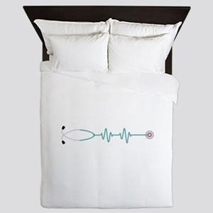 Stethescope Heart Rate Monitor Queen Duvet