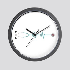 Stethescope Heart Rate Monitor Wall Clock