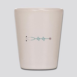 Stethescope Heart Rate Monitor Shot Glass