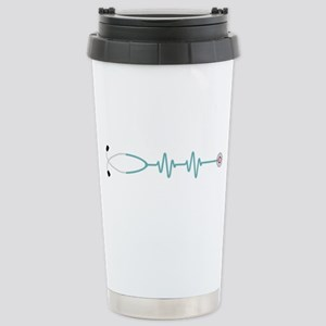 Stethescope Heart Rate Monitor Travel Mug
