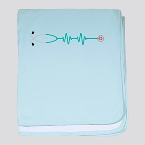 Stethescope Heart Rate Monitor baby blanket
