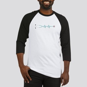 Stethescope Heart Rate Monitor Baseball Jersey