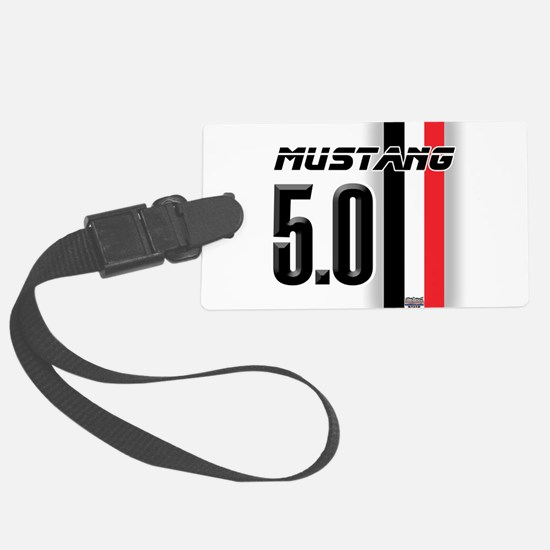 mustang5.0BWR.png Large Luggage Tag