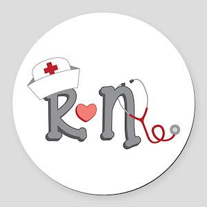 Registered Nurse Round Car Magnet